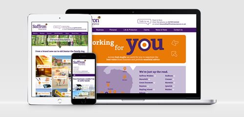 Saffron Insurance's responsive website